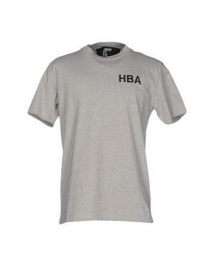 Футболка HBA HOOD BY AIR. Цвет: серый