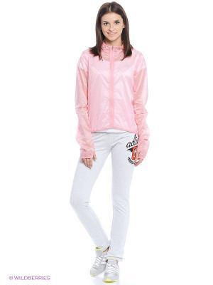 Ветровка RUN TRANSPARENT Adidas. Цвет: розовый