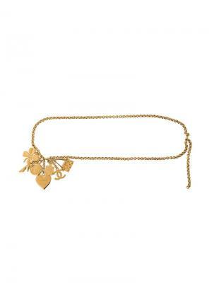 Ожерелье с кулоном Chanel Vintage. Цвет: металлический