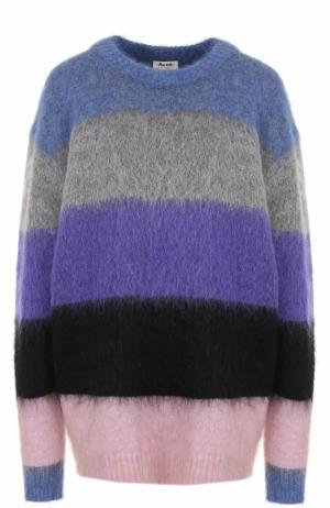Удлиненный пуловер свободного кроя в полоску Acne Studios. Цвет: разноцветный