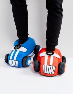 ASOS Слиперы-машинки (красный/синий). Цвет: мульти