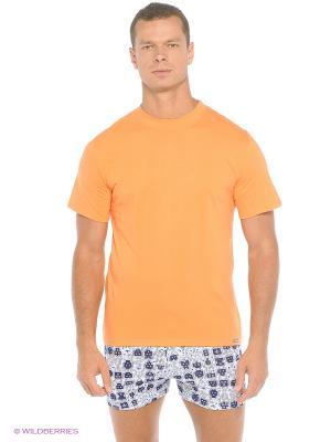 Футболка Comazo. Цвет: светло-оранжевый