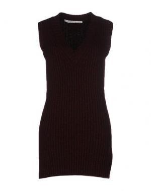 Короткое платье AQUILANO-RIMONDI. Цвет: красно-коричневый