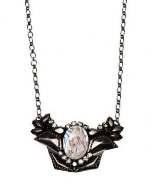 Ожерелье DEEPA GURNANI. Цвет: свинцово-серый