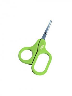 Ножницы детские безопасные  1 шт. (Нержавеющая сталь, ПП) 0+ ПОМА. Цвет: зеленый