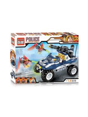 Конструктор Машина Полиция с фигуркой, 356 дет. ENLIGHTEN. Цвет: красный, желтый, белый, синий