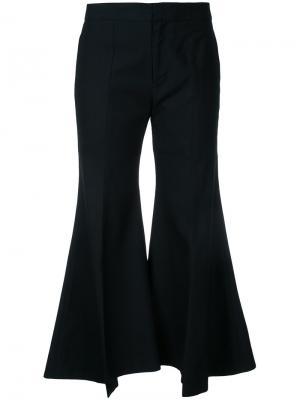 Широкие расклешенные брюки Irene. Цвет: чёрный