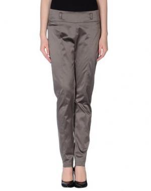 Повседневные брюки SILK AND SOIE. Цвет: свинцово-серый