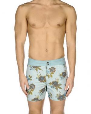 Пляжные брюки и шорты BILLABONG. Цвет: небесно-голубой