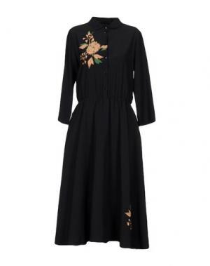 Платье до колена POUSTOVIT. Цвет: темно-синий