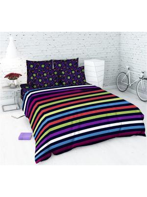 Комплект постельного белья из бязи 1,5 спальный Василиса. Цвет: сиреневый