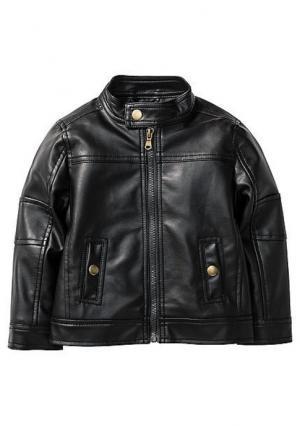 Куртка из искусственной кожи. Цвет: коричневый