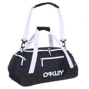 Сумка спортивная  Factory Pilot Duffel Navy Blue Oakley. Цвет: синий,белый