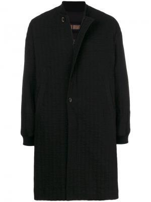 Фактурное пальто Uma Wang. Цвет: чёрный