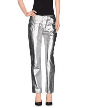 Повседневные брюки THEYSKENS' THEORY. Цвет: серебристый