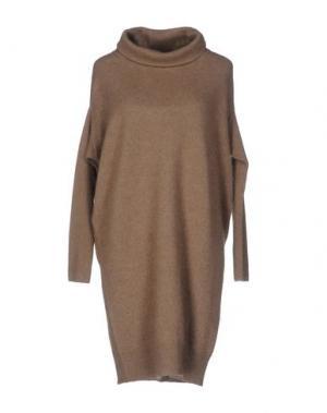 Короткое платье SILK AND SOIE. Цвет: хаки