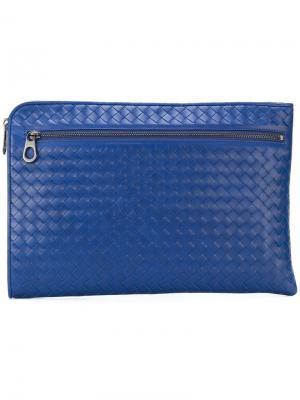 Zipped laptop sleeve Bottega Veneta. Цвет: синий