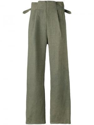 Классические брюки Cherevichkiotvichki. Цвет: зелёный