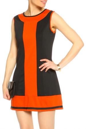 Платье SO.DA. Цвет: черный, оранжевый