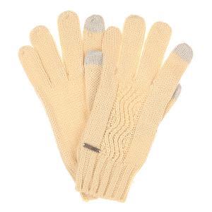Перчатки женские  Stay Angora Roxy. Цвет: бежевый
