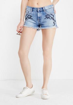 Шорты джинсовые Mango. Цвет: голубой