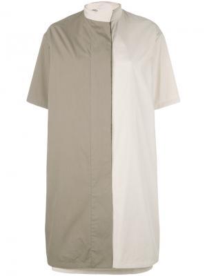 Платье с контрастными панелями Chalayan. Цвет: телесный