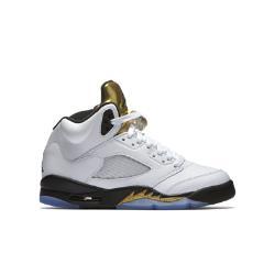 Кроссовки для школьников Air Jordan 5 Retro (3.5Y–7Y) Nike. Цвет: белый