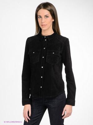 Рубашка OBJECT. Цвет: черный
