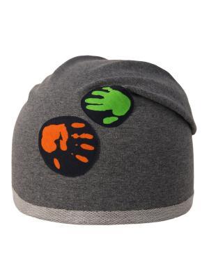 Шапка Elo-Melo. Цвет: темно-серый, зеленый, оранжевый