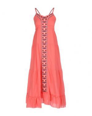 Платье длиной 3/4 KORALLINE. Цвет: розовый
