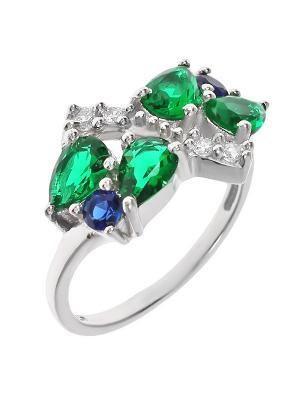 Кольцо BALEX. Цвет: синий, зеленый, серебристый
