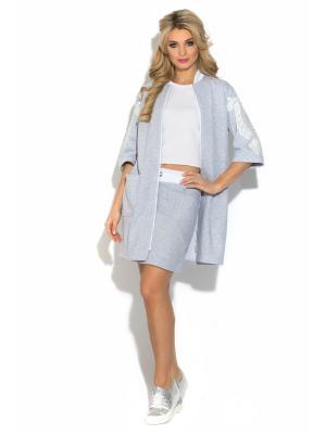 Пальто CLEVER woman studio. Цвет: серый