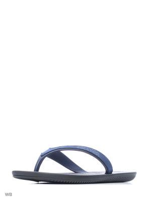 Шлепанцы CARTAGO. Цвет: черный, темно-синий