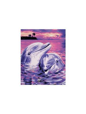 24х30 см, Дельфины, 1/6 Schipper. Цвет: фиолетовый