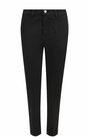 Укороченные хлопковые джинсы прямого кроя Two Women In The World. Цвет: черный