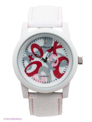 Часы Sprout. Цвет: белый, розовый