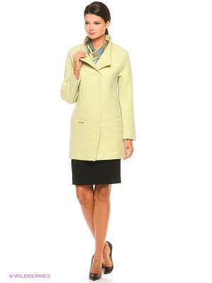 Пальто PF. Цвет: желтый, серый
