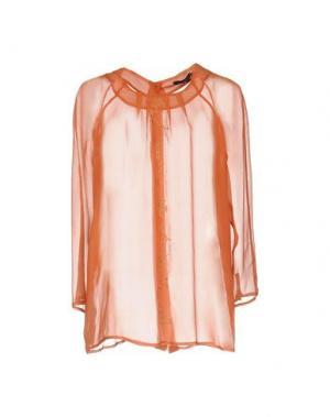 Блузка ADELE FADO. Цвет: ржаво-коричневый