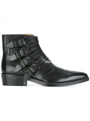Ботинки с ремешками Toga Virilis. Цвет: чёрный