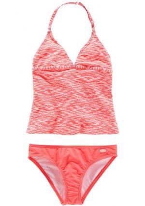 Танкини VENICE BEACH. Цвет: мятный/белый, оранжево-красный/белый