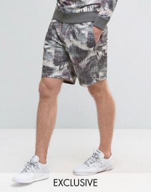 Brooklyn Supply Co. Трикотажные шорты с цветочным принтом Co. Цвет: серый