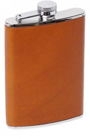Большая стальная фляга в кожаном переплете Truefitt&Hill. Цвет: бесцветный