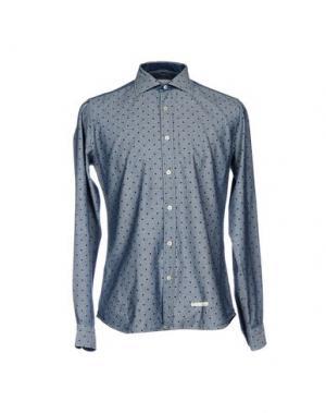 Джинсовая рубашка TINTORIA MATTEI 954. Цвет: грифельно-синий
