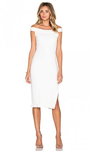 Толстое вязаное в рубчик платье wen Rachel Pally. Цвет: белый