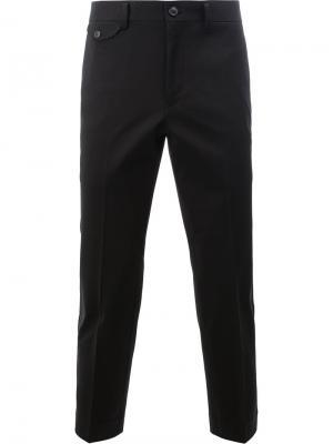 Укороченные костюмные брюки Junya Watanabe Comme Des Garçons Man. Цвет: чёрный