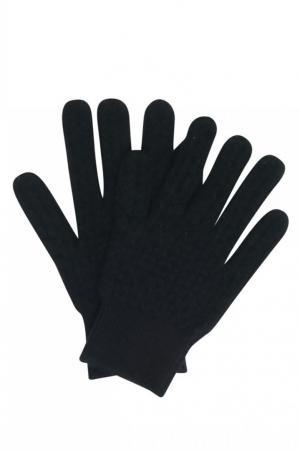 Черные перчатки из кашемира Bonpoint. Цвет: черный