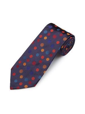 Галстук Sloe Random Dot Duchamp. Цвет: синий, желтый, красный, светло-коричневый, сливовый, темно-красный, темно-фиолетовый