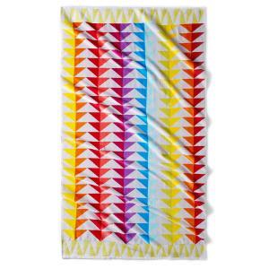 Полотенце пляжное Block, 420 г/м² La Redoute Interieurs. Цвет: бежевый/розовый/оранжевый