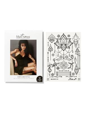Переводные тату Ornamental by SashaTattooing Studio  1 лист 29,7см*21см Miami Tattoos. Цвет: черный