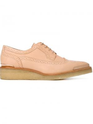 Туфли броги Broker Avelon. Цвет: розовый и фиолетовый